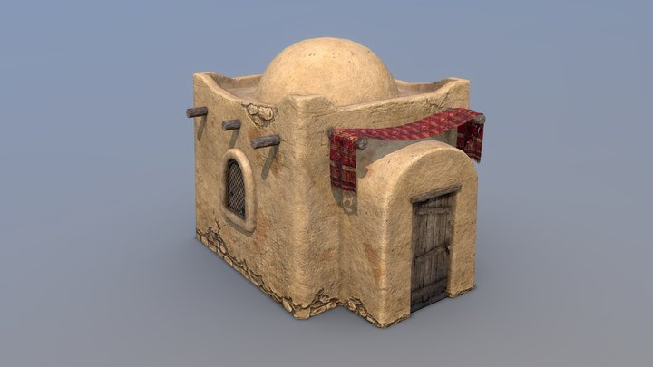 Poor Desert House 3D Model