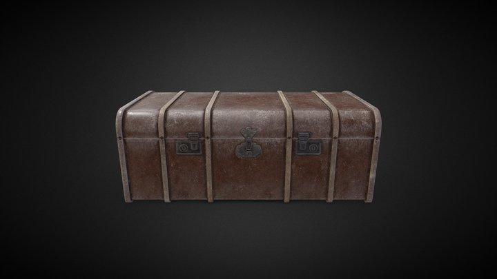 Old dusty chest 3D Model