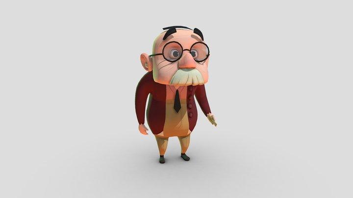 Old man Erwin 3D Model