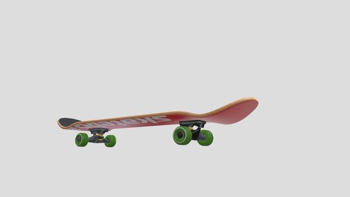 Disassemble a skateboard 3D Model