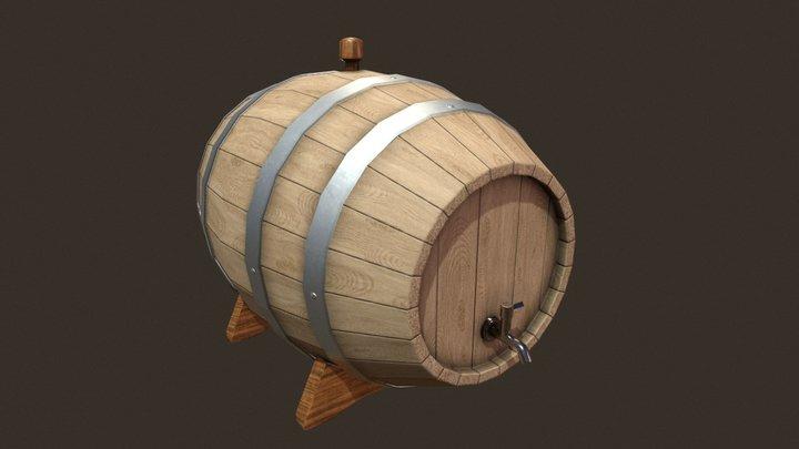 Vine barrel 3D Model
