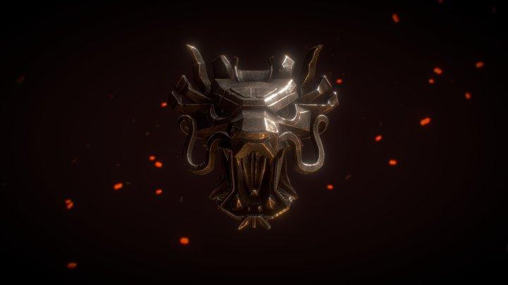 Witcher Medallion 3D Model