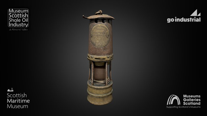 Safety Flame Lamp from the Shale Oil Museum 3D Model