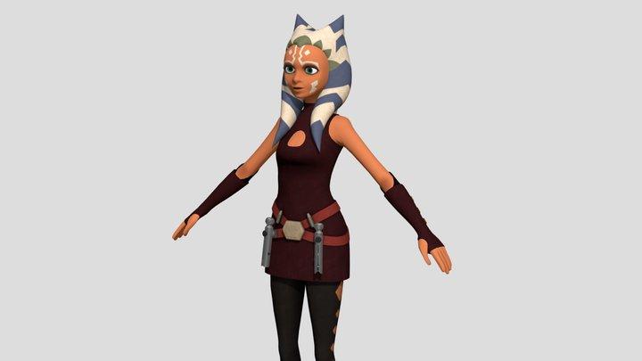 Ahsoka Tano - Late Clone Wars 3D Model