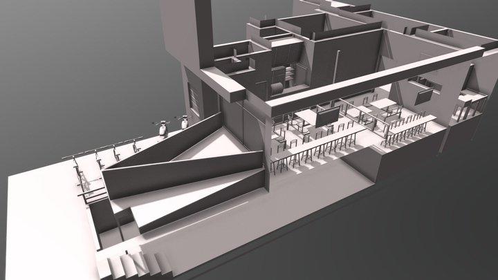 Tres de Barbacha Cambios 3D Model