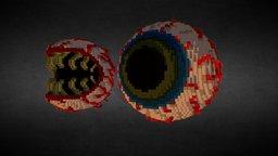 Eye Of Cthulhu Voxelart 3D Model