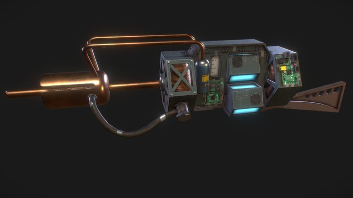 Tau Cannon from Half Life 3D Model
