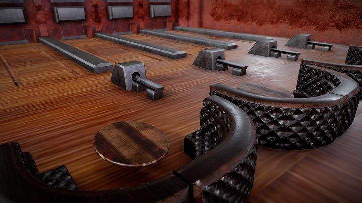 Bowling Alley Mozilla Hubs Room 3D Model