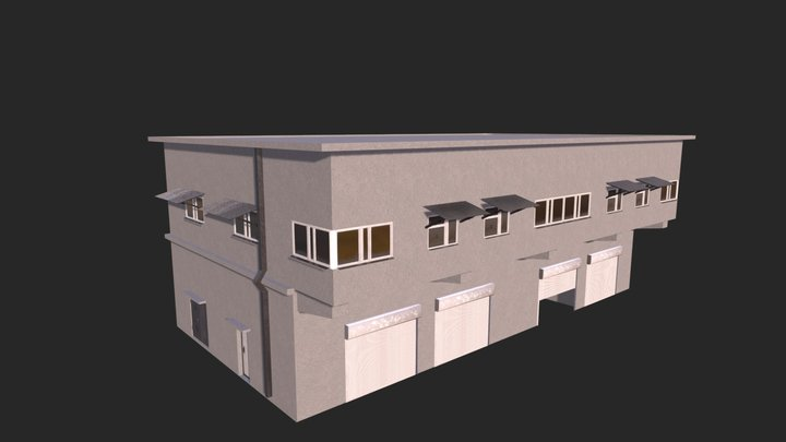 Asian building / Sleeping Dogs Universe 3D Model