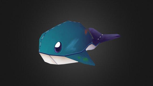 Whale Plushie 3D Model
