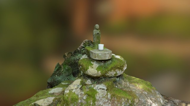 Small Buddha Statue 3D Model