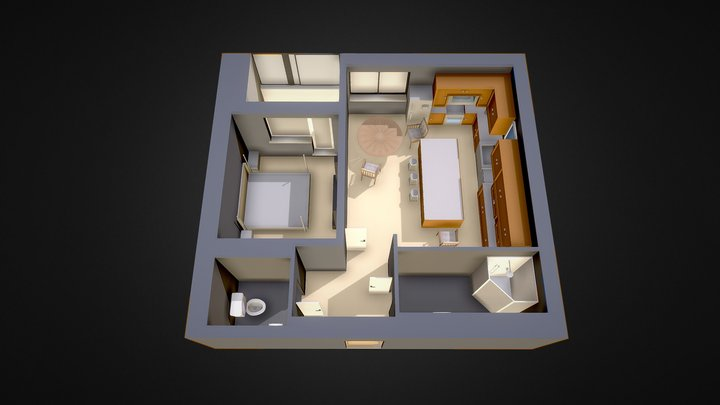 Apartment layout of a dream house 3D Model
