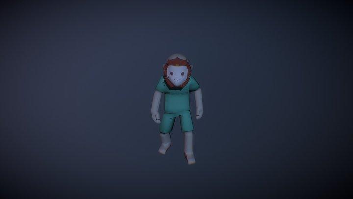 Monkey Boy Animations 3D Model