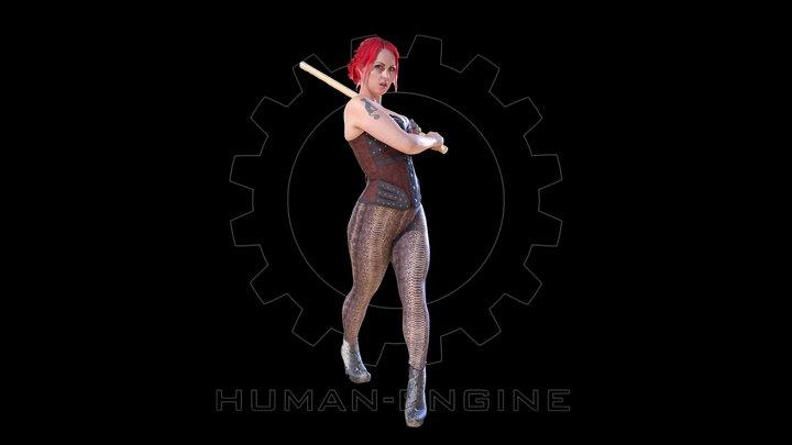 Female Scan - Sonya Corset 3D Model