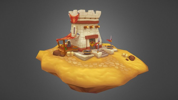 Outpost of Anubis 3D Model