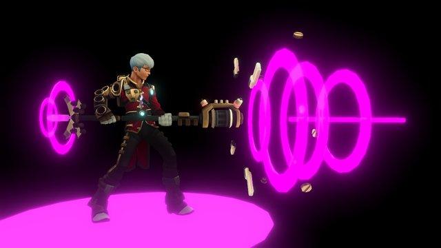 Joseph - Mechknight Chronicles -magic attack 3D Model