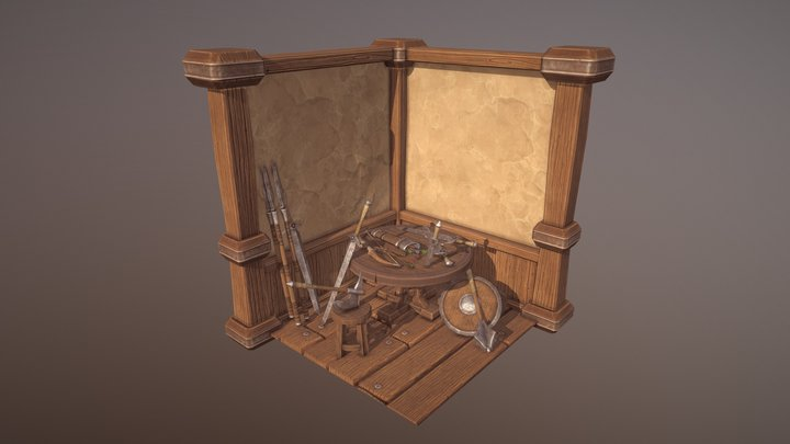Be:Brave Weapons 3D Model