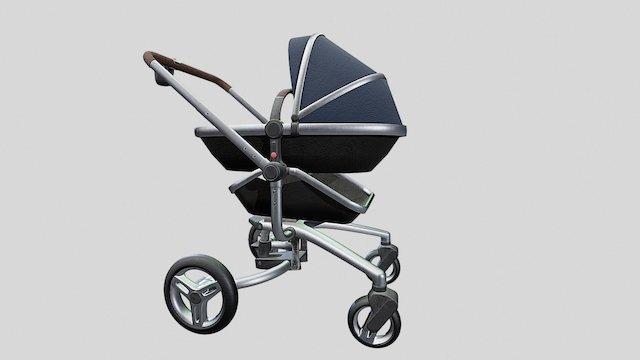 Baby Stroller 3D Model