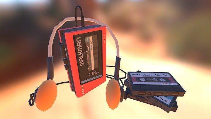 Low poly Sony Walkman WM-22 3D Model
