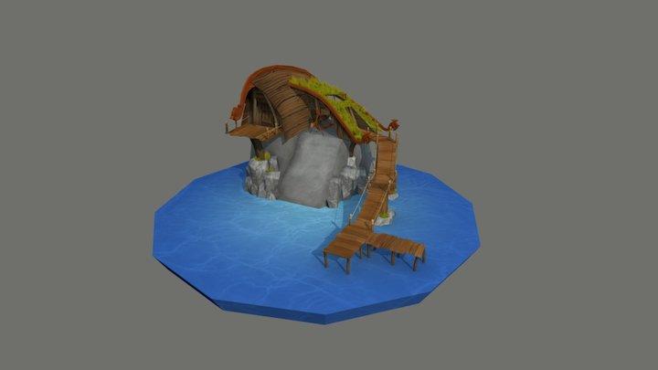 viking_boatbuilder_house 3D Model