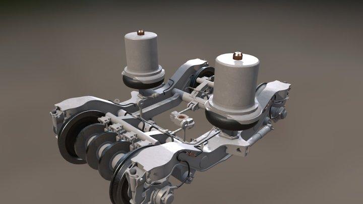 TGV Carriage Bogie 3D Model