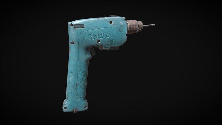 Makita Cordless Drill 3D Model