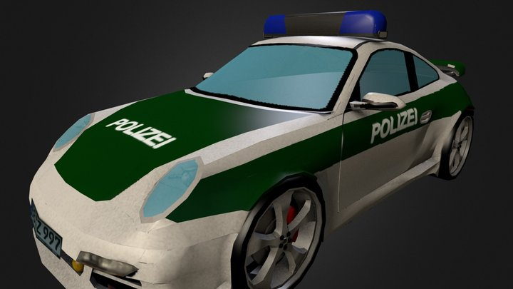 Porche 997 Turbo Polizei 3D Model