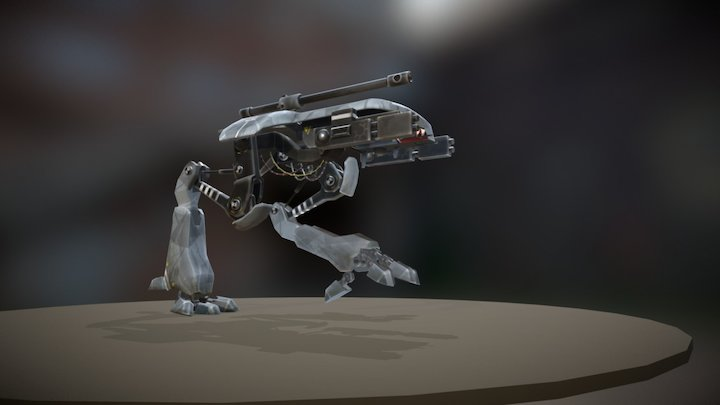 Robot Runcycle Animation 3D Model