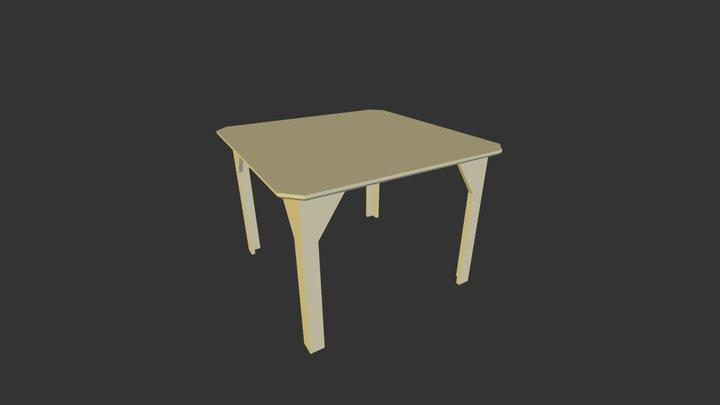 Yellow Mini Table 3D Model