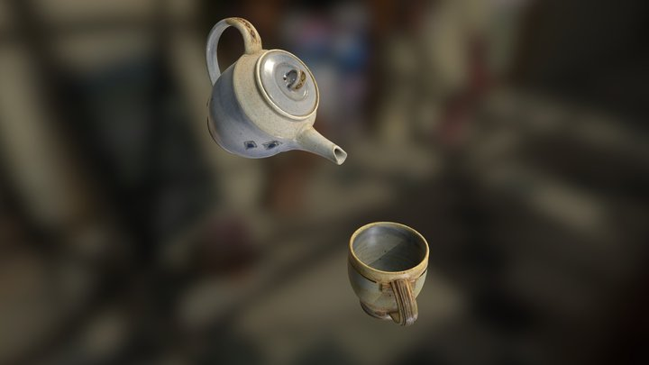 Tea Set Pouring [Animated, Short] 3D Model