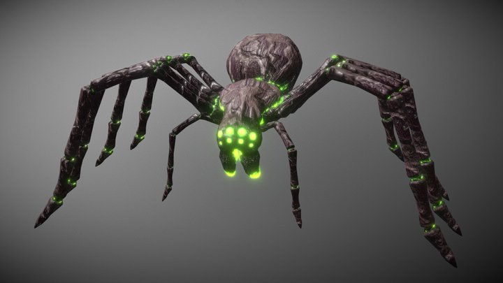 Creepy Poison Spider 3D Model