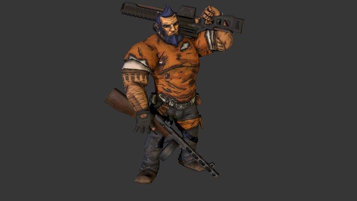 Salvador (from Borderlands 2) - Idle 3D Model