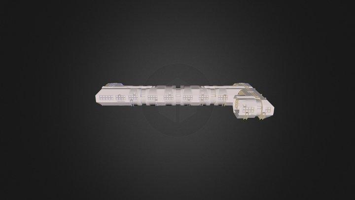 Inside Space ship 3D Model