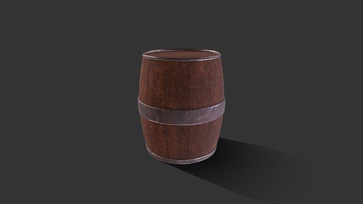 Simple high poly barrel 3D Model