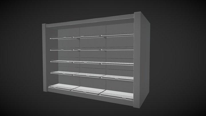 Market Shelves 3D Model