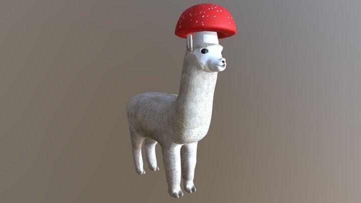 Mushroom Alpaca 3D Model