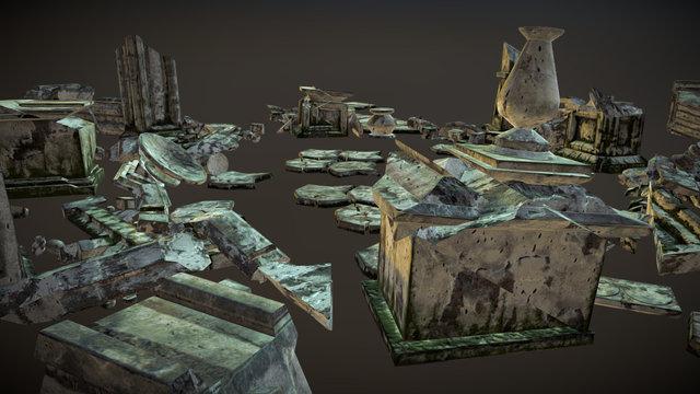 Stone Ruins 01 3D Model