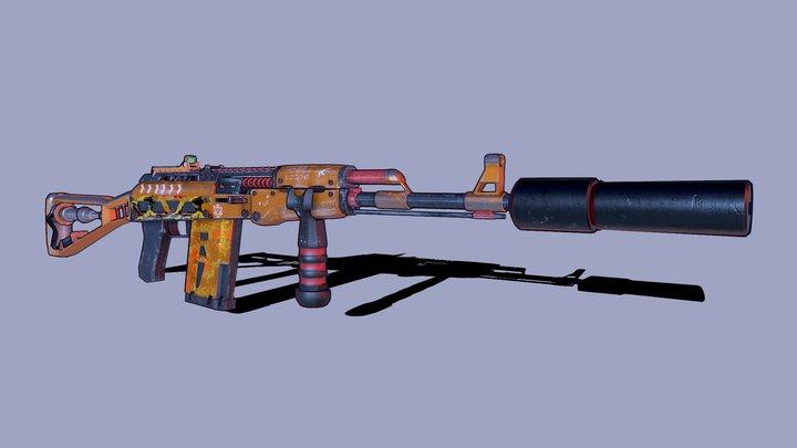 AK 47 Stylized 3D Model