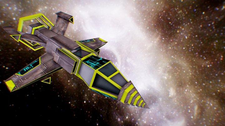 Space Battle Ship C4D FBX 3D Model