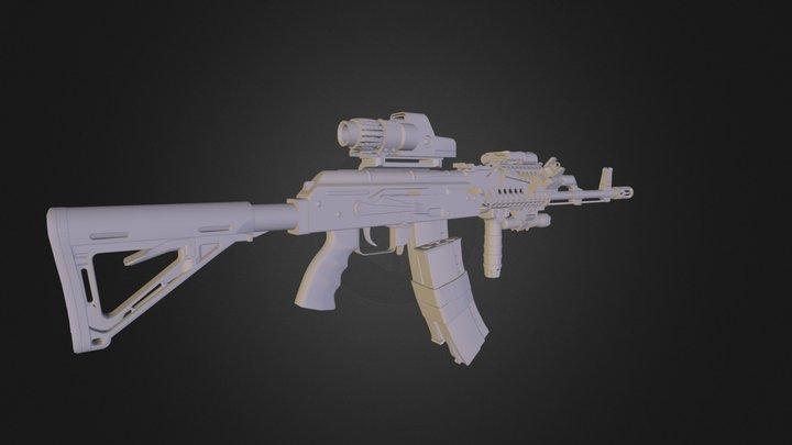 AK74.obj 3D Model
