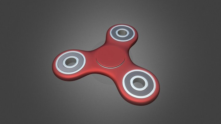 Fidget spinner stress relieving toy 3D Model