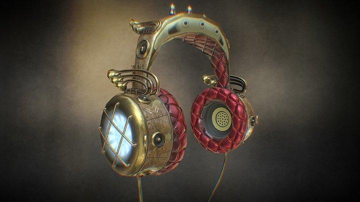 Steampunk Headphones 3D Model