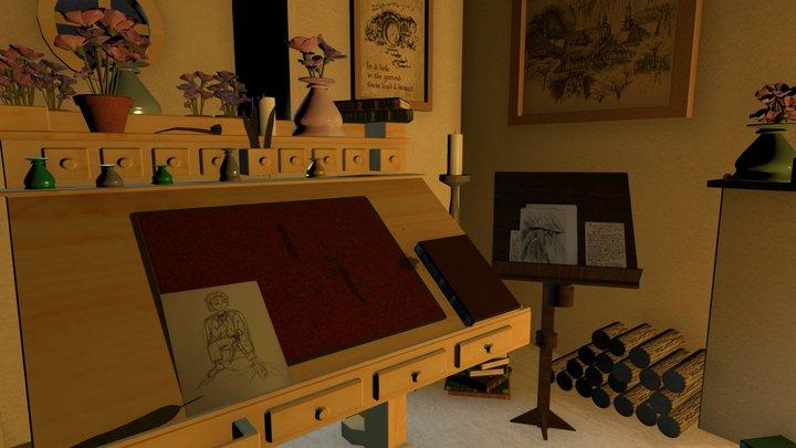 Hobbit Room 3D Model