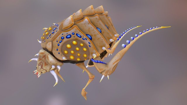 Alien 01 Mid Poly 3D Model