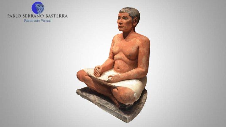 Escriba Sentado (Museo del Louvre) 3D Model