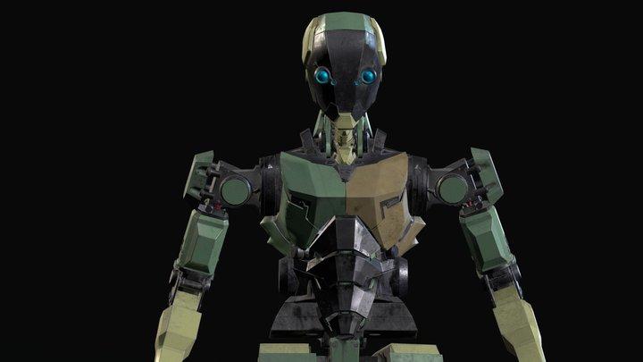 Billbot hard surface character. 3D Model
