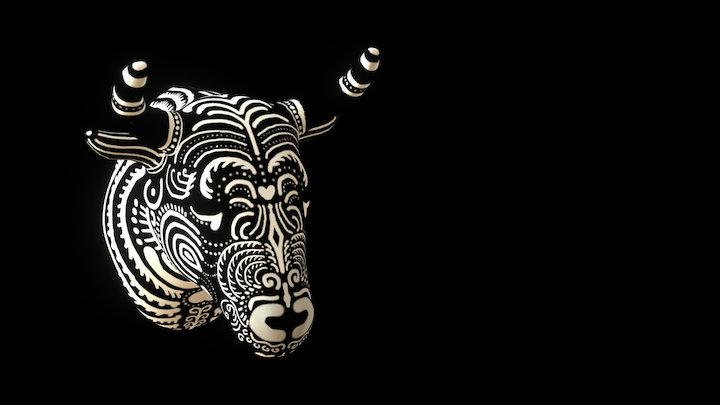 Cabeza de Toro 3D Model
