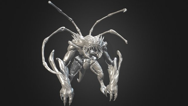 Sci fi Monster - Highpoly clay (Decimated) 3D Model