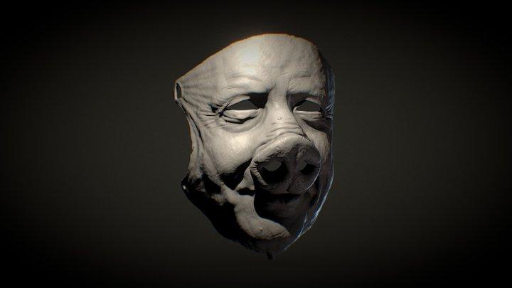 Boris the Pig Mask V3 WIP 3D Model