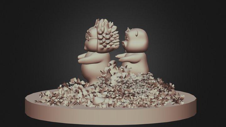 Pig & Porcupine 3D Model